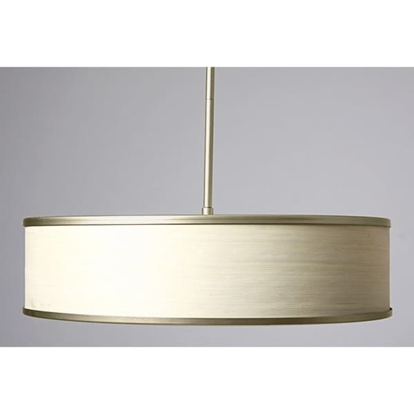 Metal-rimmed Off White 20-inch Chandelier