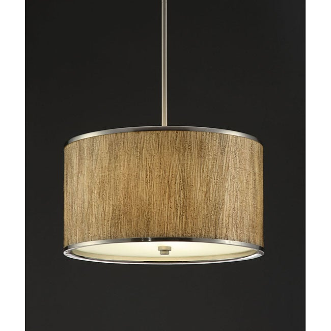Natural Tan 16-inch Chandelier