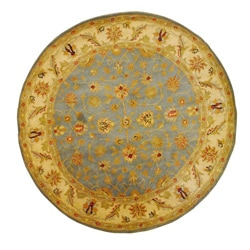 Indo Tufted Light Blue Mahal Rug (6' Round)
