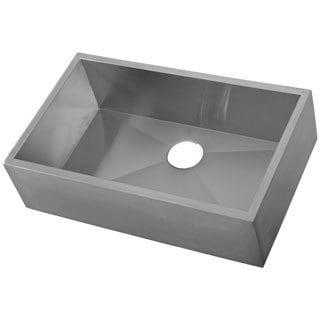 Ticor 33-inch 16-gauge Stainless Steel Single Bowl Undermount Apron Kitchen Sink
