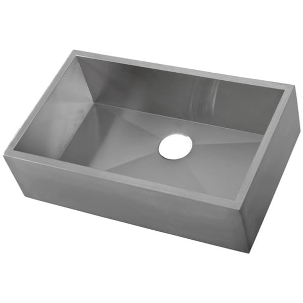 Farmouse 33-inch 16-gauge Stainless Steel Flat Apron Kitchen Sink with ...