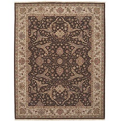 Nourison Hand-knotted Ancestry Brown Wool Rug (3'9 x 5'9)