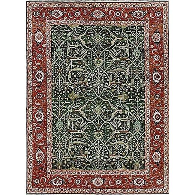 Nourison Hand-woven Millennia Green Rug (8'10 x 11'10)