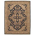 Nourison Hand-knotted Ancestry Midnight Wool Rug (3'9 x 5'9)