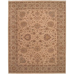 Nourison Hand-knotted Ancestry Beige Wool Rug (3'9 x 5'9)
