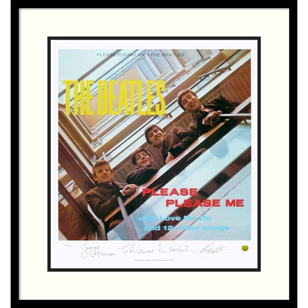 The Beatles: Please Please Me (album cover)' Framed Art Print