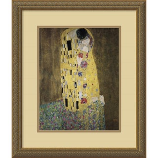 Gustav Klimt 'The Kiss' (Le Baiser / Il Baccio) Framed Art Print
