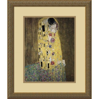 Gustav Klimt 'The Kiss (Le Baiser / Il Baccio), 1907' Framed Art Print
