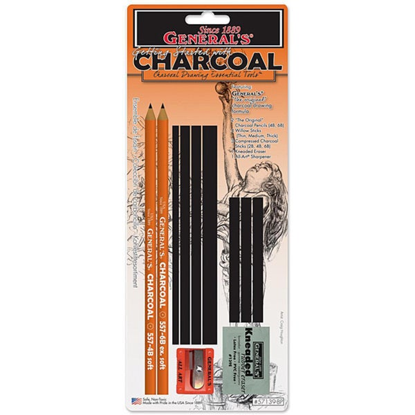 General Pencil Charcoal Drawing Essential Tools