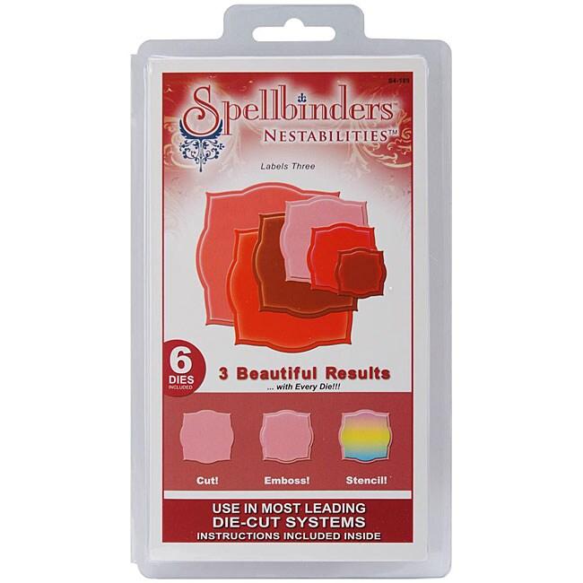 Spellbinders Nestabilities 'Labels 3' Die Set