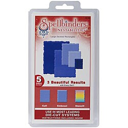 Spellbinders Nestabilities 'Large Deckled Rectangles' Die Set