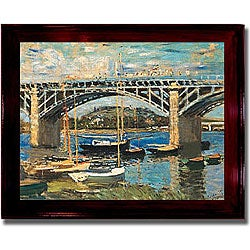 Monet 'Bridge at Argenteuil' Framed Canvas Art