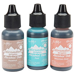 Adirondack Brights Fade-Resistant Alcohol Inks (Set of 3)