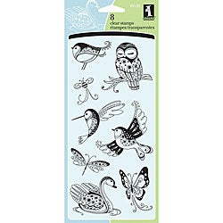 Inkadinkado 'Patterned Birds and Bugs' Clear Stamps