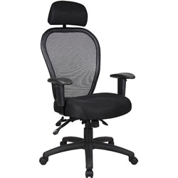 Ergonomic Boss Mesh Task Chair with Headrest