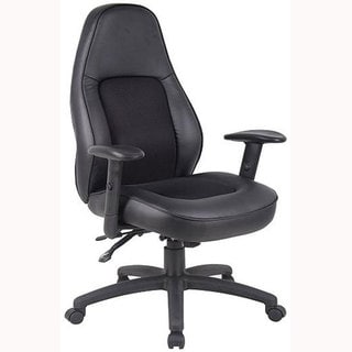 Boss High-back Multifunction Bonded Leather Chair