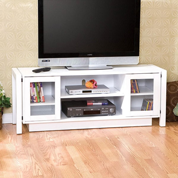White tv stand media console 12089023 White media console