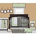 Bacati Metro Green 4-piece Crib Bedding Set