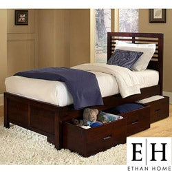Ferris Cherry Twin-size Platform Storage Bed