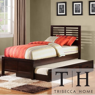 Sale alerts for  Tribecca Home Ferris Cherry Full-size Platform Bed with Trundle Unit - Covvet