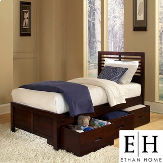 ETHAN HOME Ferris Cherry Full-size Platform Storage Bed