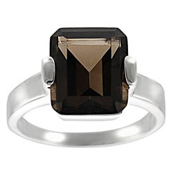 Tressa Sterling Silver Smokey Quartz Ring