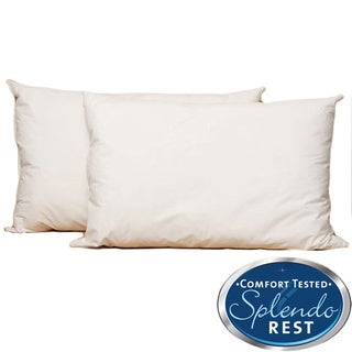 Splendorest Angel Soft 220 TC Cotton Down Alternative King-size Pillows (Set of 2)