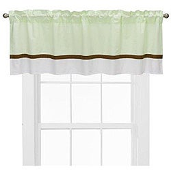 Bacati Metro Lime/ White/ Chocolate Valance