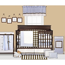 Bacati Metro Blue 4-piece Crib Bedding Set