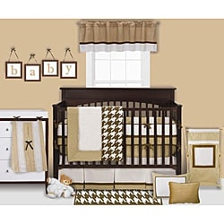 Bacati Metro Chocolate 4-piece Crib Bedding Set
