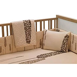 Pea Berry Mocha 6-piece Crib Bedding Set