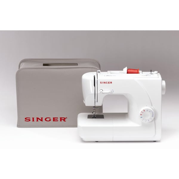 Singer 1507 White Eight-stitch Mechanical Sewing Machine with Cover