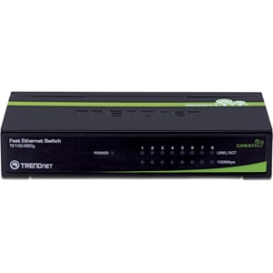 TRENDnet 8-Port 10/100Mbps GREENnet Switch