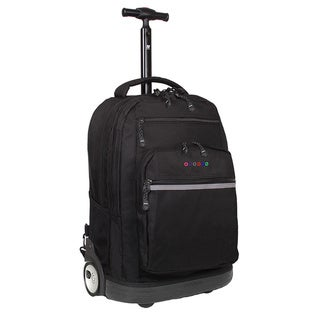 J World 'Sundance' Black 19.5-inch Rolling Backpack with Laptop Sleeve