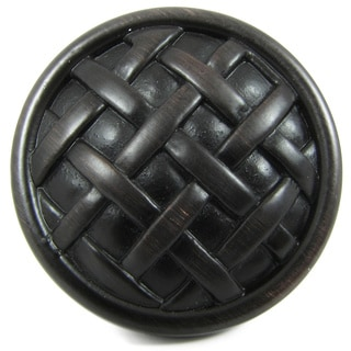Solid Zinc Alloy Basket Weave Cabinet Knobs (Pack of 25)