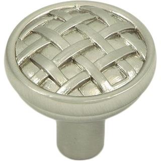 Basket Weave Satin Nickel Cabinet Knobs (Pack of 10)