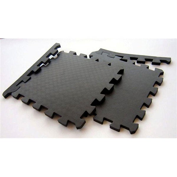 TNT Foam Black Waterproof Interlocking Gym Floor Mats (96 Square Feet)