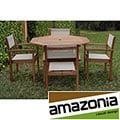 Torino Eucalyptus Wood Patio Dining Set