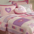 Spring Hearts 3-piece Quilt Set