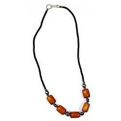 Tan Beaded Necklace (Kenya)