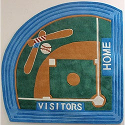 Baseball Field Rug (5' Baseball Diamond)