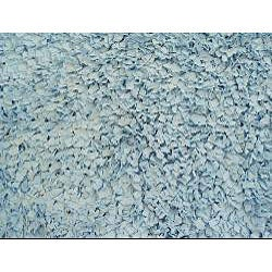 Soft Blue Cotton Shag Rug (4'7 x 7')