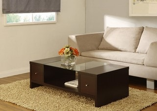 Laurel Two-side Open-drawer Coffee Table
