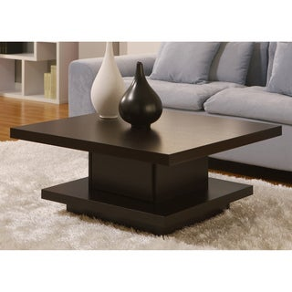 Furniture of America Wakiaka Unique Pagoda Coffee Table