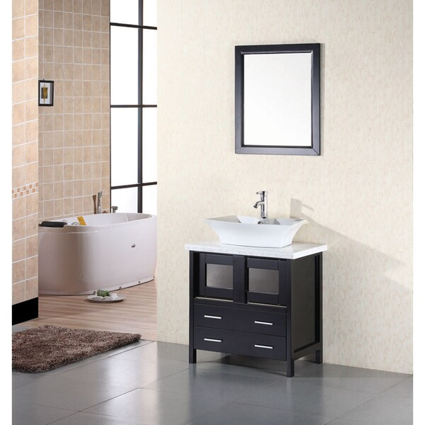 Design Element Elite Contemporary Bathroom Vanity Set