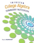 College Algebra: Summary Notebook (Spiral bound)