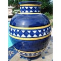 Nautical Diamond 10-inch Ceramic Vase (Morocco)