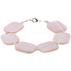 Mother Of Pearl and Silver Bracelet (Thailand)