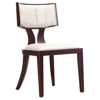 Regency Leatherette Dining Chairs (Set of 2)