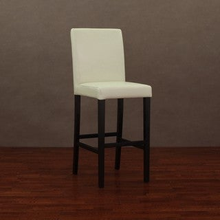 Andre Creme Leather Barstool